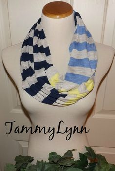 Oatmeal Navy Blue Yellow and True Blue by tammylynnscreations