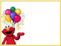 ♥ Dibujos a color ♥: ♥ Marcos para fotos o tarjetas de Elmo ♥