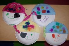 Toddler Activity - Pirate Face Plates