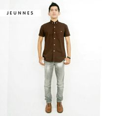 Shortsleeve Linen Shirt!  Only 200,000 idr.  Kindly visit our new article only on www.jeunnes.com