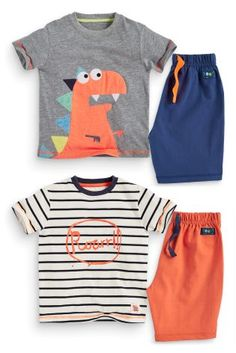 £15 Buy Two Pack Dino Short Pyjamas (9mths-8yrs) from the Next UK online shop