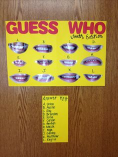 Dental Hygiene activity for Pre-K! I'm totally doing this with my Preschoolers