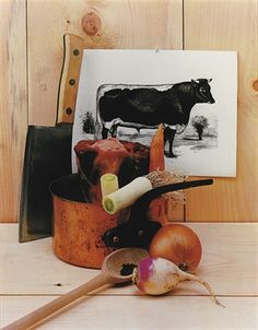 Ingredients for a Beef Stew, editorial photograph for House & Garden, New York, ca. 1943