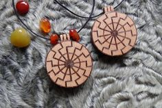Wooden Black sun pendant. It is a symbol of inner power, relations with bloodline. Very powerful sign that can be used in rituals.  Diameter 1.57 inches (40 mm)