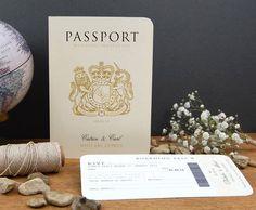 Passport To Love Wedding Abroad Invitation