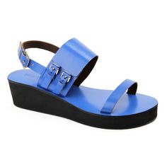 Parade in Blue Leather Sandals, Journey, Blue, Shoes, Women, Fashion, Moda, Zapatos, Shoes Outlet