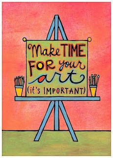 My high school art teacher once said that if you want it bad enough, you will make time for it. This is so true.