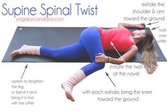 Pin now, practice later! Supine spinal twist.
