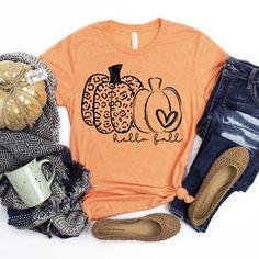Hello Fall Leopard Pumpkin Shirt, Leopard Print Pumpkin Fall Shirt, Ladies Fall Shirt, Halloween Pumpkin Shirt, Leopard Halloween Tee by AnyWearApparelCo on Etsy Leopard Halloween, Dog Mom Shirt, Fall Shirts, Soccer Shirts, Hello Autumn, Dad To Be Shirts, Halloween Shirt, Fall Pumpkins, Printed Shirts