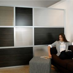 Astounding Modern Metal Framed Glass Combined With Wood Wall Panel Design As A Slim And Minimalist Room Partition Design Ideas For Living Room Decoration