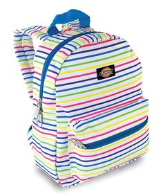 Look what I found on #zulily! Dickies Blue & Yellow Stripe Mini Backpack by Dickies #zulilyfinds