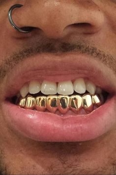 18K Real Gold Braces Punk Hiphop Multicolor Diamond Custom Bottom Teeth  Grillz Dental Mouth Fang Grills Tooth Cap Vampire Rapper Jewelry 259d46401f