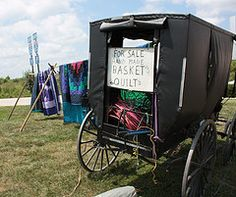 Amish baskets and quilts for sale