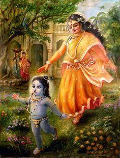 Krishna Art Painting - Krishna Damodara by Lila Shravani