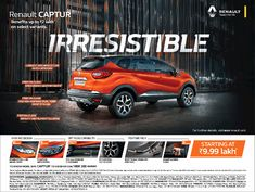 View Renault Renault Captur Benefits Upto 2 Lakhs Ad in Times of India Bangalore newspaper. This Ad is collection of Sample Ad at Advert Gallery. Car Banner, Car Advertising, Times Of India, Gallery, Graphics, Check, Collection, Autos, Roof Rack