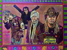 Poison Painting by Ray Stephenson - If you'd like this original artwork, please E-Mail RayboMusic@bellsouth.net today! ○○○ #PoisonBand #BretMichaels #RockAndRoll #Art #Nashville #Tennessee #Artist #acrylic #music #RockMusic #HairBand #80sRock #band