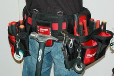 >>Learn about power tool set. Check the webpage for more information~~~~~~ The web presence is worth checking out. Plastic Tool Box, Power Tool Set, Work Belt, Tool Pouch, Milwaukee Tools, Klein Tools, Construction Tools, Garage Tools, Work Tools