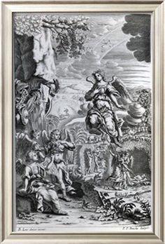 The Archangel Uriel Informs Gabriel That Satan Is in the Garden of Eden Giclee Print by Bernhard Lens at Art.com