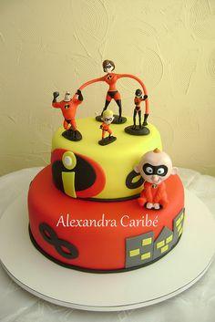 Resultado de imagen para the incredibles party ideas Disney Themed Cakes, Disney Cakes, 2 Birthday, Birthday Ideas, Incredibles Birthday Party, Movie Cakes, Superhero Cake, Character Cakes, Take The Cake