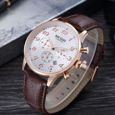Megir Stainless Steel Quartz Watch