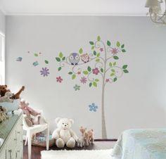 Happy Tree pra deixar o quarto das meninas super alegre! istickonline.com