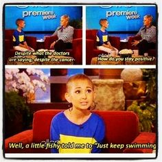 Inspiring, beautiful, and so darn cute!  #cancersucks #staystrong