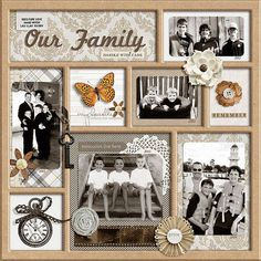 family shadow box  Wendy Schultz via Janet Nagai onto Canvas Art / Framed Art.