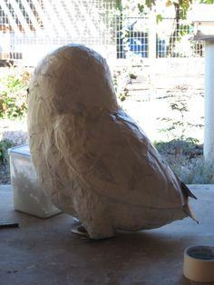 paper mache owl tutorial