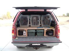 truck cap camper and dog carrier - Google Search