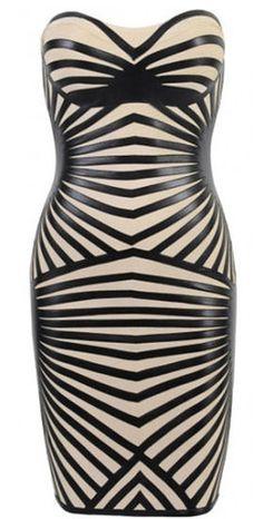 Harper Strapless Bandage Dress
