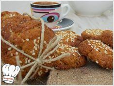 ΑΝΑΡΠΑΣΤΑ ΜΠΙΣΚΟΤΑ ΜΕ ΤΑΧΙΝΙ ΝΗΣΤΙΣΙΜΑ!!! - Νόστιμες συνταγές της Γωγώς! Greek Desserts, Greek Cooking, Tasty, Yummy Food, Tahini, Muffin, Cookies, Breakfast, Lenten