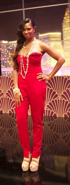 Jennifer-Williams-Valentino Red-Jumpsuit...need a budget friendly version of this...so chic!