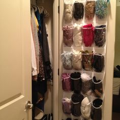 Scarf organizer - this is the best idea yet!!