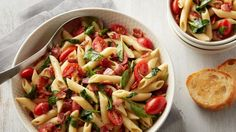All the flavors of your favorite BLT sandwich, from smoky bacon to fresh tomatoes, come together in this quick and easy one-pot pasta that will become a favorite summer weeknight dinner.