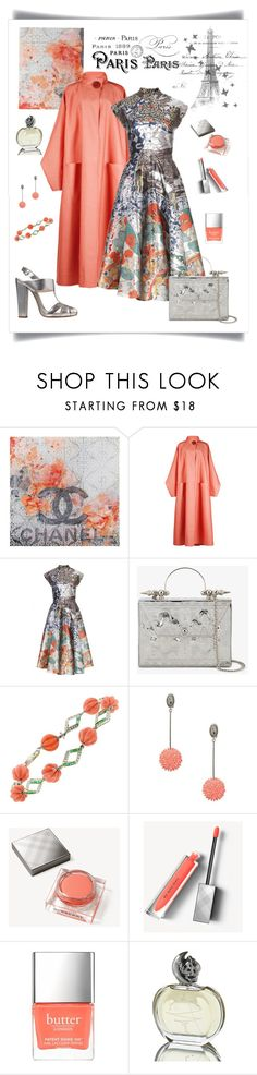"""""""J'adore Paris au Printemps"""" by romaboots-1 ❤ liked on Polyvore featuring Marmont Hill, Roksanda, Mary Katrantzou, Etro, Okhtein, Lela Rose, Burberry, Butter London and Sisley"""