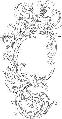 Ornament tattoo design