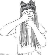 girl drawing black and white Tumblr Girl Drawing, Tumblr Drawings, Girl Drawing Sketches, Girly Drawings, Tumblr Art, Girl Sketch, Cute Drawings Of Girls, Black And White Girl, Black And White Drawing