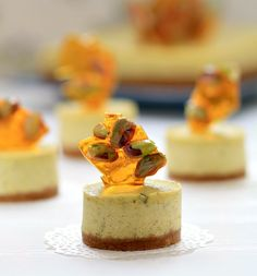 Pistachio-Lime Cheesecake w/Pistachio Brittle