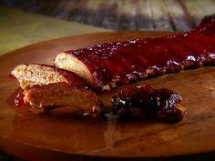 Chipotle-Plum BBQ Pork Ribs Recipe : Marcela Valladolid : Food Network - FoodNetwork.com