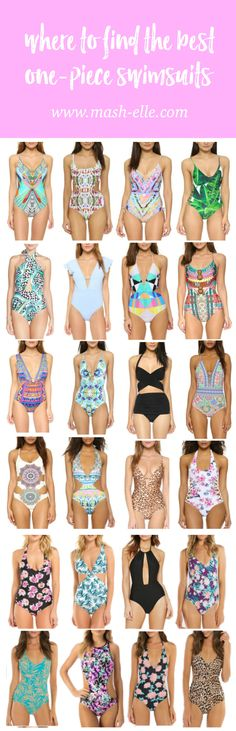 I want them all! | Fashion and beauty blogger Mash Elle shares a round-up of the best splurge vs. steal one-piece swimsuits. Affordable swimsuits from Target, H&M, Forever 21 and more!