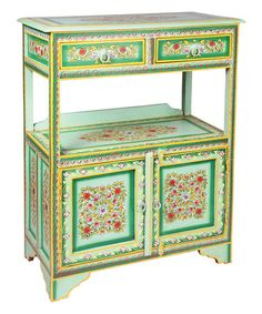 Another great find on #zulily! Sea Green Hand-Painted Wagon Table #zulilyfinds