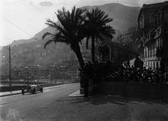 1929 Monaco GP [Rudi and palm] Rudolf Caracciola at the 1929 Monaco Grand Prix.