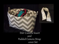 DSLR Camera Bag Insert & Camera Strap Cover Set  by StrappyStyles