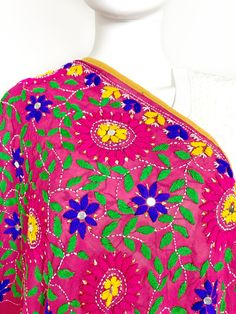 Shop online handmade, vintage, and one-of-a-kind traditional phulkari products at Pink Phulkari. Explore different phulkari work designs here, today! Phulkari Embroidery, Mexican Embroidery, Hand Embroidery Designs, Exclusive Collection, Beauty Care, Cute Dresses, Saree, California, Free Shipping