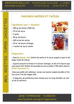 Pancakes facile et rapide Tupperware Microvap Tupperware, Tupperware Recipes, Tupperware Pressure Cooker, Pancake Muffins, Patriotic Party, Crepes, Macarons, Biscuits, Brunch
