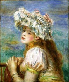 Pierre-Auguste Renoir: Girl in a Lace Hat