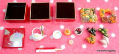 Re-ment / Rement : Japanese Dollhouse Toys : Japanese Seasonal Food #1 - Miniature Oseichi / Oshogatsu / New Year Food