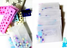 tarjetas handmade papel vegetal, circulos de papeles de colores  impresion