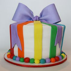 """Rainbow cake- I hope one of my talented baking friends can do this, Because I CAN""""T BAKE!!"""
