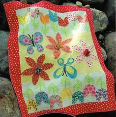 Tulip Garden Applique Quilt Pattern by Fresh Cut Quilts